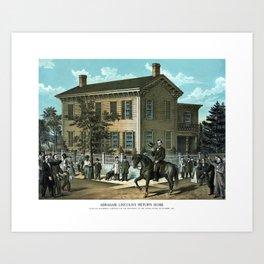 Abraham Lincoln's Return Home Art Print