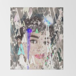 Audrey Type Abstract Art Throw Blanket