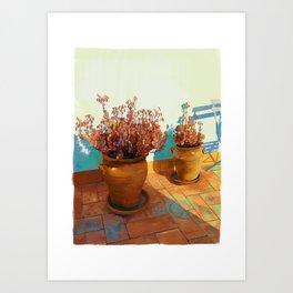 Seville Pots Art Print