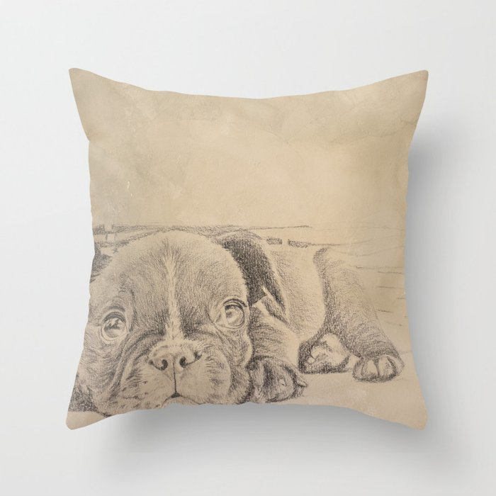 sweet puppy Throw Pillow