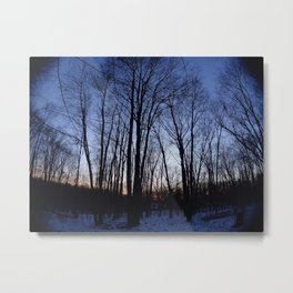 Cloudless Winter Sunset Metal Print