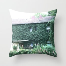 Wine maker house Throw Pillow