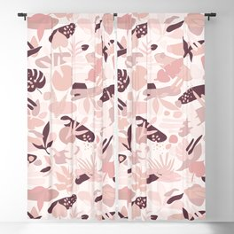 Abstract Pastel Leaves I. Blackout Curtain