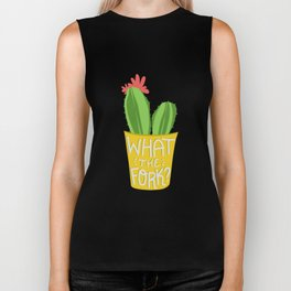 what the fork? cactus (The Good Place) Biker Tank