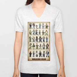 The Walking Dead Squishies Unisex V-Neck
