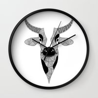 cow Wall Clocks featuring Cow by Art & Be
