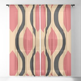 Pretty Ogee Pattern 341 Sheer Curtain