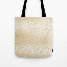 Luxury ivory glam gold glitter gradient floral Tote Bag