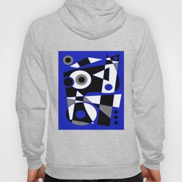 Abstract #505 Blue Hoody