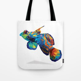 Geometric Abstract Mandarin Dragonette Goby Tote Bag