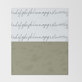 Alphabet-Khaki Throw Blanket