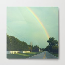 Rainbow on a Sunday Drive Metal Print