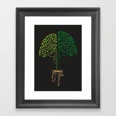Technology Tree Framed Art Print