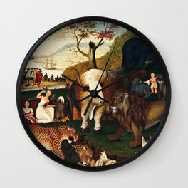 Edward Hicks - The Peaceable Kingdom Wall Clock