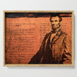 Abraham Lincoln and the Gettysburg Address Serving Tray
