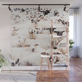 The Herd #watercolor #wildlife Wall Mural
