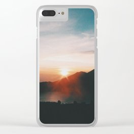 On top of Mount Batur Clear iPhone Case