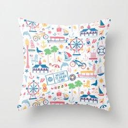 Newport Harbor Doodles Throw Pillow