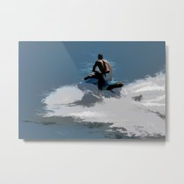 Making Waves - Jet Skier Metal Print
