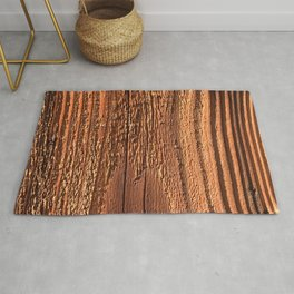 Honey-Combed Gold Tree Bark With Elegant Wooden Ridges Rug