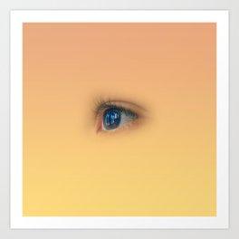 Blue eye staring Art Print