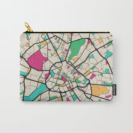 Colorful City Maps: Manchester, England Carry-All Pouch