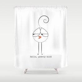 Lola Bird Says Hi Shower Curtain
