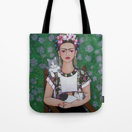 Frida cat lover Tote Bag