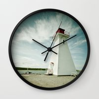 lighthouse Wall Clocks featuring lighthouse. by kimberlie ann photography