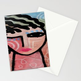 Sunshine Abstract Portrait of a Woman Stationery Cards