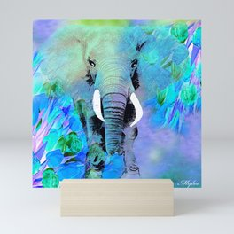 ELEPHANT BLUE Mini Art Print