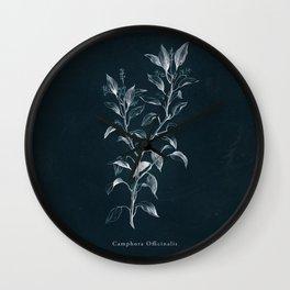 Cyanotype - Camphora Officinalis Wall Clock