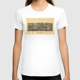 Aerial View of Walden, Orange County, New York (1887) T-shirt