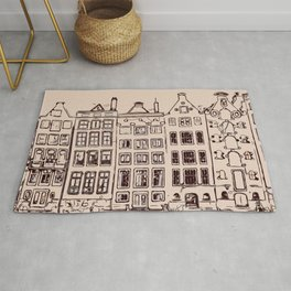 Canal house in Amsterdam, The Netherlands Rug
