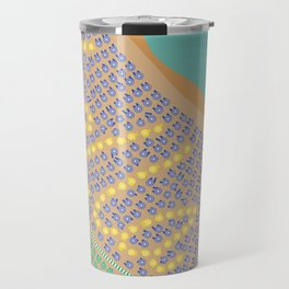 Bella / Beautiful Italy Beach Umbrellas - Aerial Italian Travel Mug