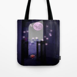 Basking In The Moon Showers Tote Bag