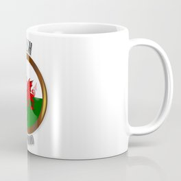 Welsh Proud Flag Button Coffee Mug