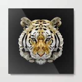 Fractal Tiger Metal Print