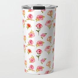 Rosarium. Hand drawn watercolor pattern Travel Mug