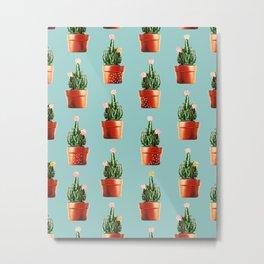 Cactus in Copper Pots #society6 #decor #buyart Metal Print
