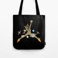 space jam Tote Bags featuring Space Jam Owl by October's Very Own