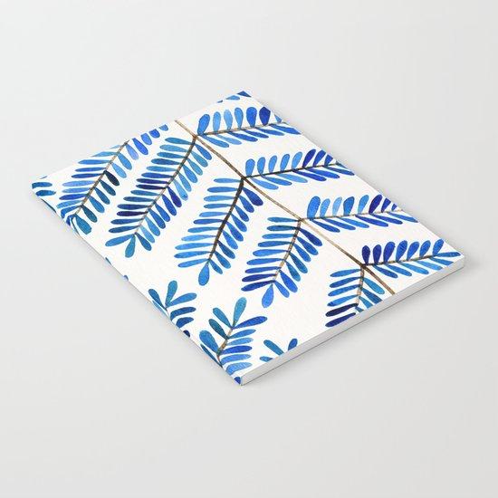 Blue Leaflets Notebook