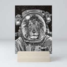 Astronaut Lion Selfie Mini Art Print