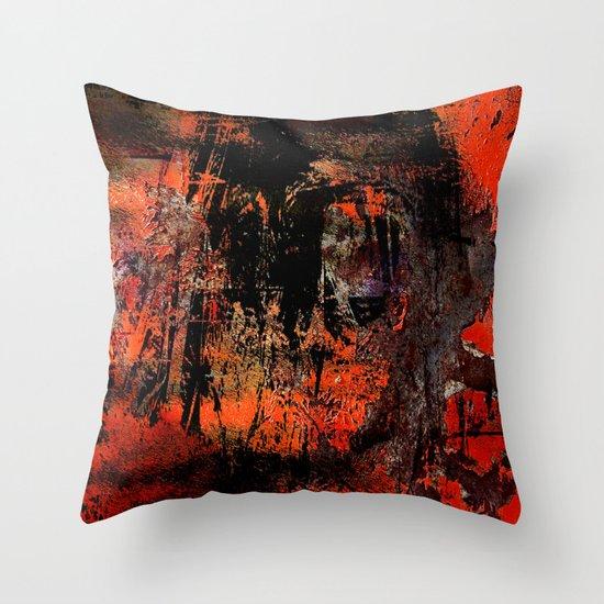 My Red Instinct Throw Pillow