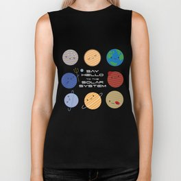 Say Hello to the Solar System Biker Tank