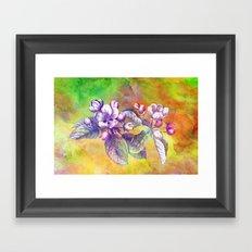 APPLE BLOSSOM Framed Art Print