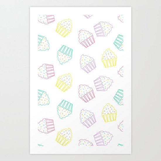 pastel cupcakes  Art Print