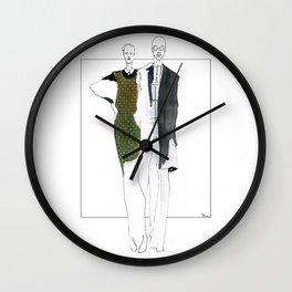 American Gothic in Fashion Wall Clock