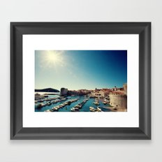 Old Town Harbor - Dubrovnik, Croatia Framed Art Print