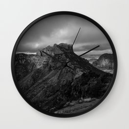 Top of Lost Mine Trail Mountaintop View, Big Bend - Landscape Photography Wall Clock